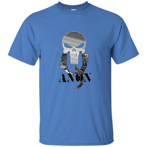 Blue Qanon Punisher Skull T-shirt