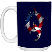Load image into Gallery viewer, Navy Blue American Flag Flame Qanon/Q Mug