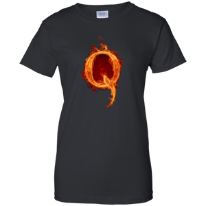 Black Qanon Q On Fire T-shirt