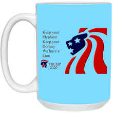 Load image into Gallery viewer, Trump 2020 - We Have A Lion Ceramic Mug