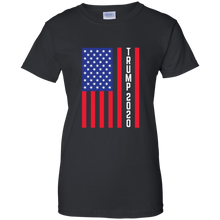 Load image into Gallery viewer, Black Trump 2020 Flag Women's T-shirt