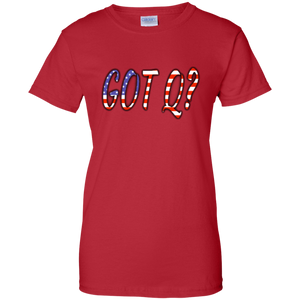 Red Got Q American Flag Q/Qanon T-shirt