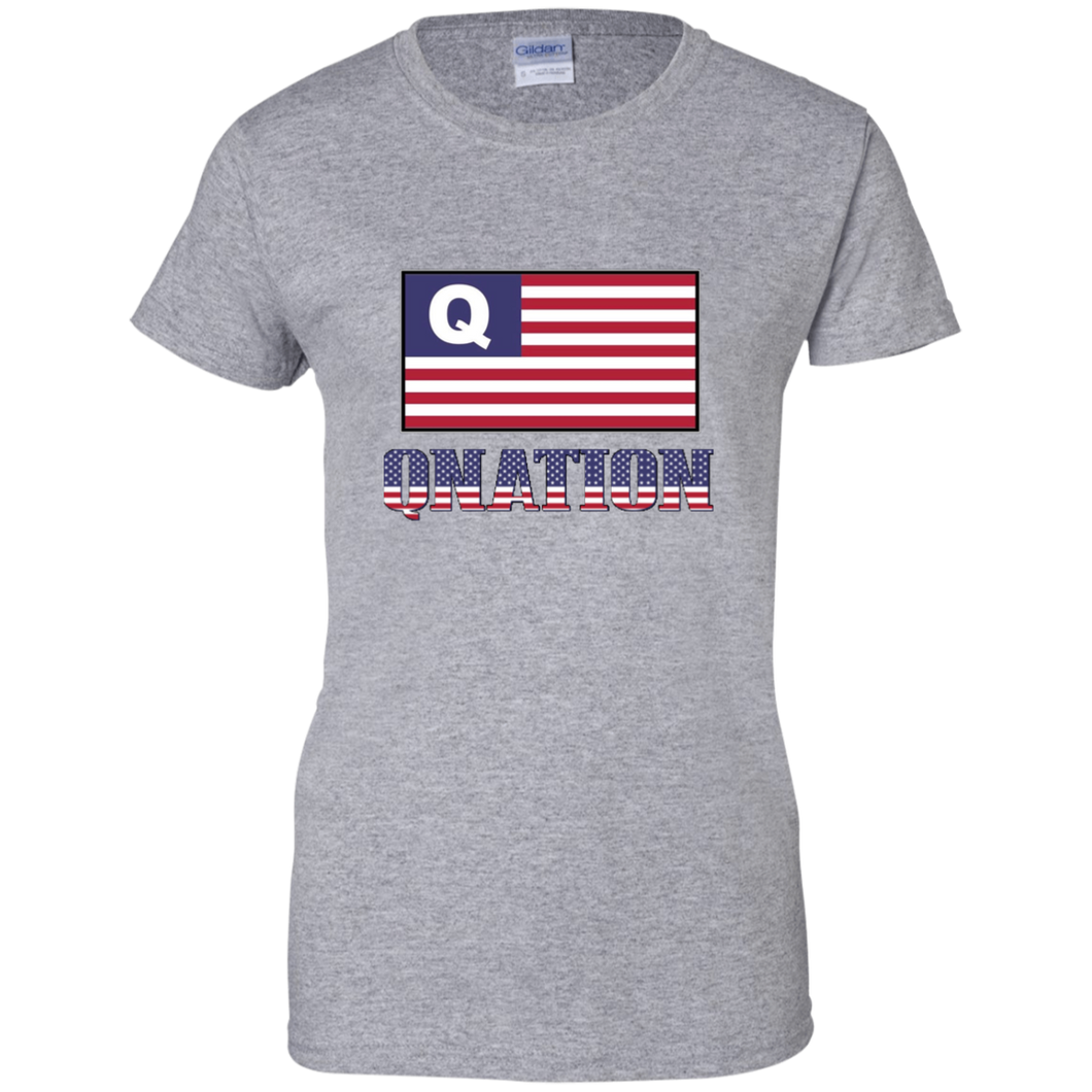 Grey Qnation Q/Qanon T-shirt