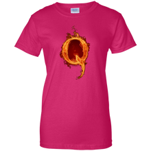 Load image into Gallery viewer, Pink Qanon Q On Fire T-shirt
