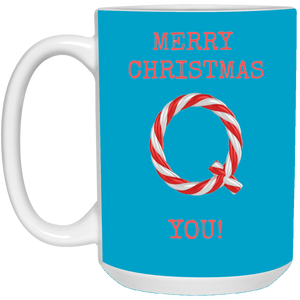 Merry Christmas Q You Mug - Red