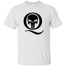 Load image into Gallery viewer, White Q Skull Q/Qanon T-shirt