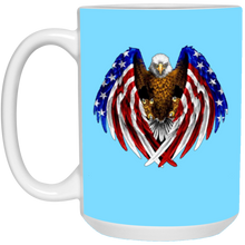 Load image into Gallery viewer, Light Blue American Flag Eagle Wings Mug