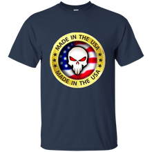 Load image into Gallery viewer, Navy Blue Joe M Qanon Logo T-shirt