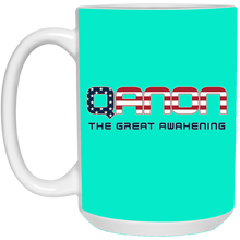 Load image into Gallery viewer, Turquoise Qanon The Great Awakening Mug