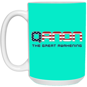 Turquoise Qanon The Great Awakening Mug