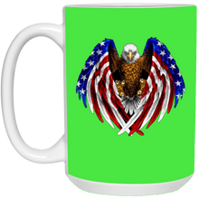 Load image into Gallery viewer, Green American Flag Eagle Wings Mug