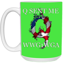 Load image into Gallery viewer, Green Q Sent Me WWG1WGA Q/Qanon Ceramic Mug