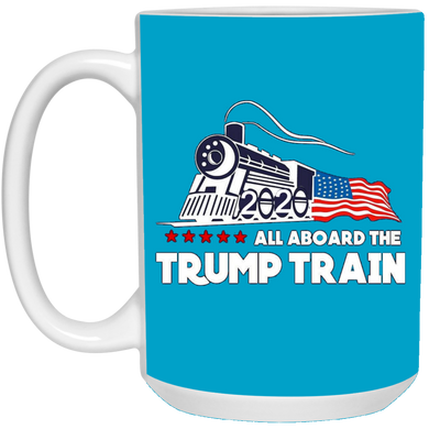Trump All Aboard The Trump Train Ceramic Mug