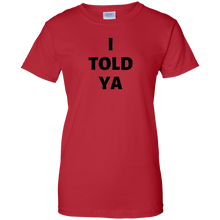 Load image into Gallery viewer, Red JFK JR I Told Ya T-shirt