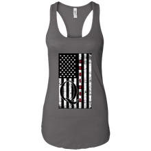 Load image into Gallery viewer, Charcoal Grey Qanon WWG1WGA Flag Women's Tank Top