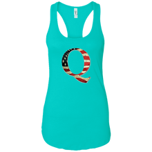 Load image into Gallery viewer, Teal Q American Flag Qanon/Q Tank Top