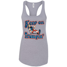 Load image into Gallery viewer, Grey Keep On Trumpin Tank Top
