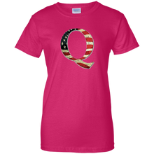Load image into Gallery viewer, Pink Q American Flag Qanon/Q T-shirt