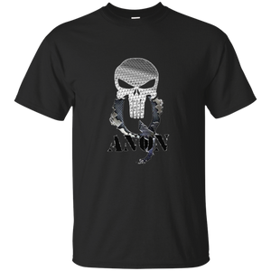 Black Qanon Punisher Skull T-shirt