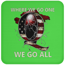 Load image into Gallery viewer, Lime Green WWG1WGA Q/Qanon Coaster