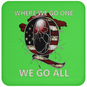 Lime Green WWG1WGA Q/Qanon Coaster