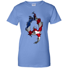 Load image into Gallery viewer, Blue American Flag Flame Qanon/Q T-shirt