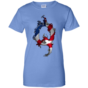Blue American Flag Flame Qanon/Q T-shirt