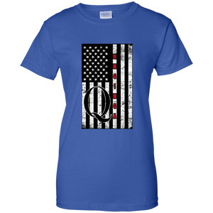 Royal Blue Qanon WWG1WGA Flag Women's T-shirt