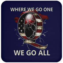 Load image into Gallery viewer, Navy Blue WWG1WGA Q/Qanon Coaster