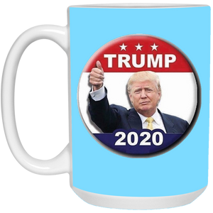 Light Blue Trump 2020 Ceramic Mug