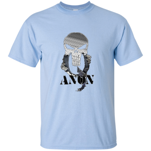 Light Blue Qanon Punisher Skull T-shirt