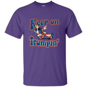 Purple Trump Keep On Trumpin Kids T-shirt