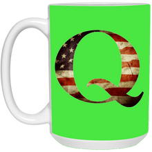 Load image into Gallery viewer, Qanon American Flag Q Ceramic Mug
