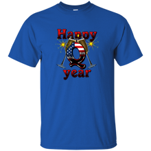 Load image into Gallery viewer, Blue Happy Q Year Q/Qanon T-Shirt