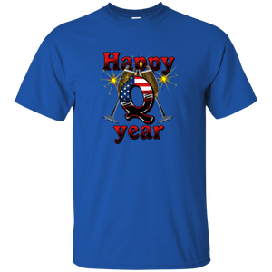 Blue Happy Q Year Q/Qanon T-Shirt