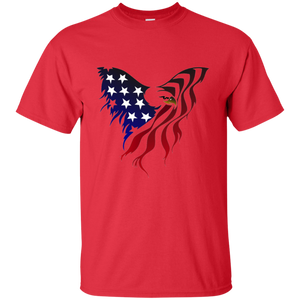Red Amercian Flag Eagle T-shirt