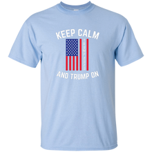 Load image into Gallery viewer, Light Blue Keep Calm-Trump On Trump T-shirt