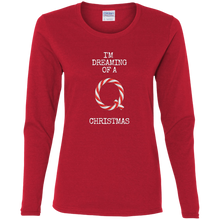 Load image into Gallery viewer, I'm Dreaming Of A Q Christmas Women's Long Sleeve Shirt