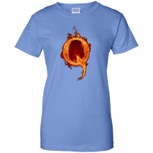 Load image into Gallery viewer, Blue Qanon Q On Fire T-shirt
