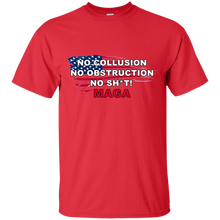 Load image into Gallery viewer, Red Trump - No Collusion No Obstruction No Sh*t MAGA T-shirt