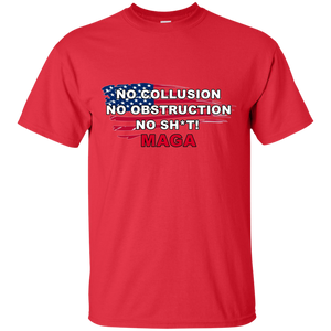 Red Trump - No Collusion No Obstruction No Sh*t MAGA T-shirt