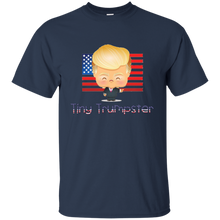 Load image into Gallery viewer, Navy Blue Trump Tiny Trumpster Kids T-shirt