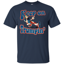 Load image into Gallery viewer, Navy Blue Keep On Trumpin T-shirt
