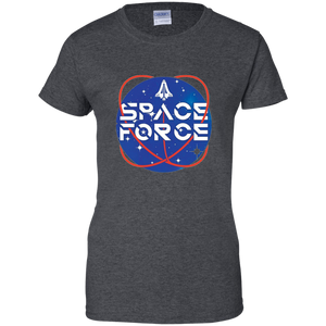 Charcoal Grey Trump Space Force T-shirt