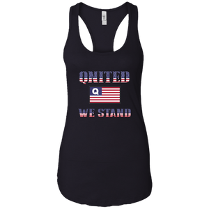 Black Qnited We Stand Q/Qanon Tank Top