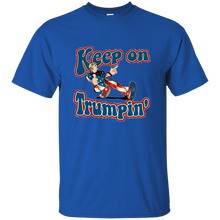 Load image into Gallery viewer, Royal Blue Trump Keep On Trumpin Kids T-shirt
