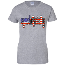Load image into Gallery viewer, Grey synchQnicity American Flag Q/Qanon T-shirt