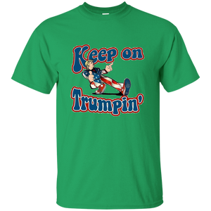 Green Trump Keep On Trumpin Kids T-shirt