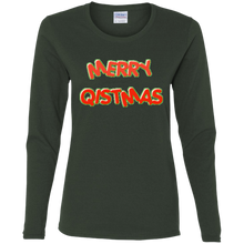 Load image into Gallery viewer, Merry Qistmas Women's Long Sleeve Shirt