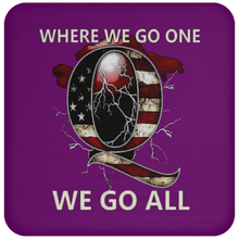 Load image into Gallery viewer, Purple WWG1WGA Q/Qanon Coaster